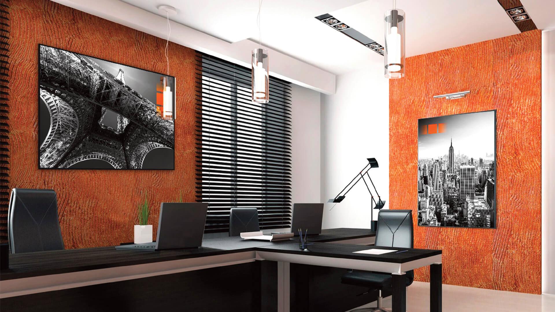 """Décoration de bureau avec des cadres """"Blackbox"""" fabriqués en France"""